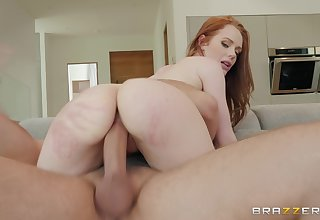 Petite redhead cutie Ella Hughes pounded and sprayed with cum on face