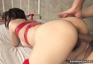 Asian dude fucks mouth and hairy pussy of nasty chick Runa Kanzaki